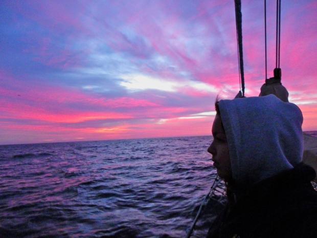 Sunrise in the Pacific Ocean, 2013
